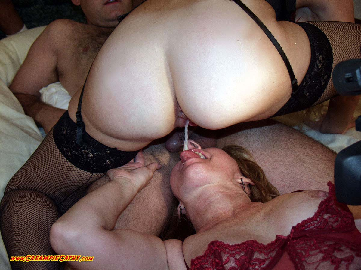 Many creampies in one pussy